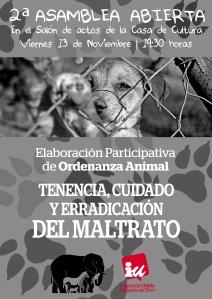 cartel II Asamblea Animal